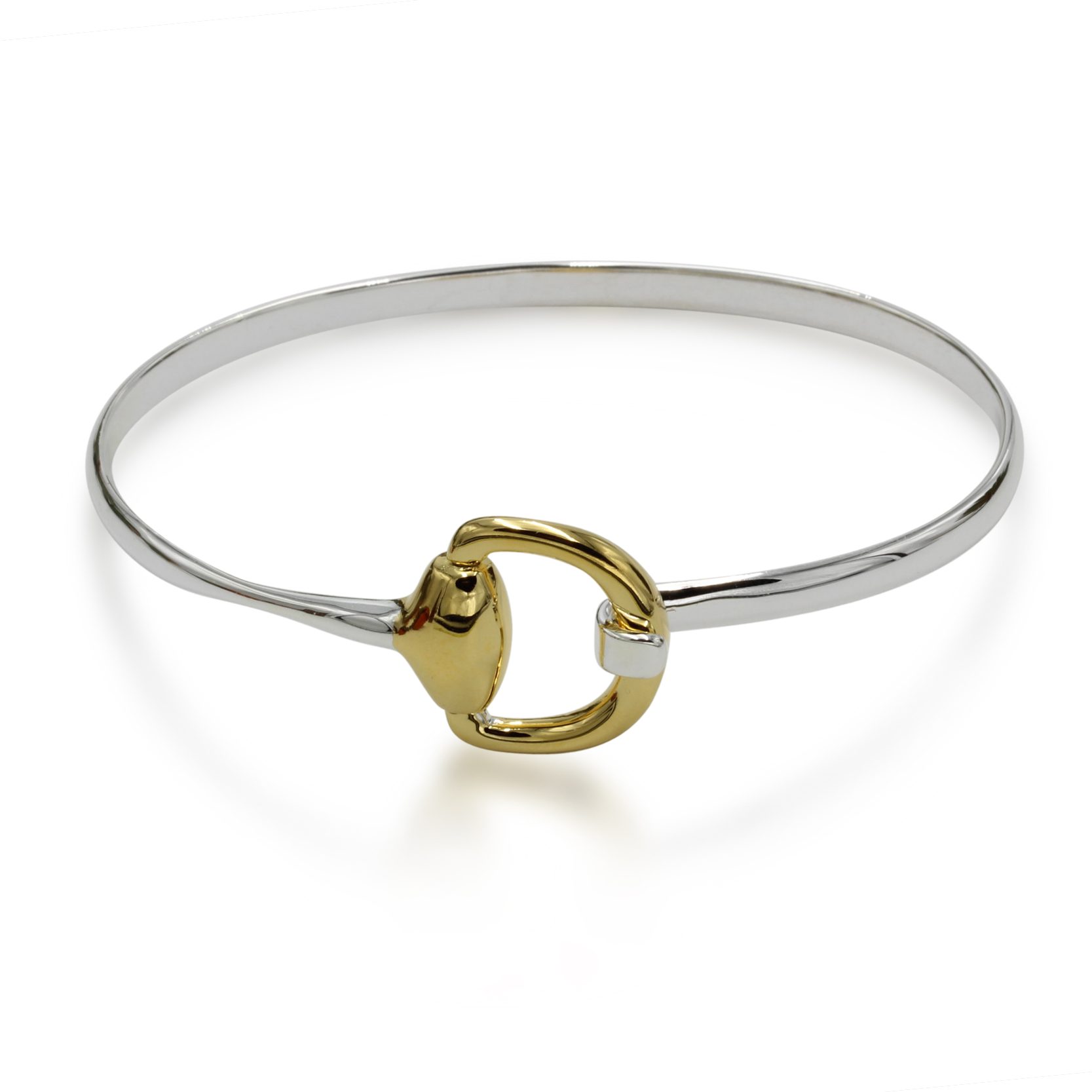Snaffle Bracelet in gold and silver